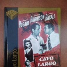 Cine: PELICULA DVD - LIBRO CAYO LARGO CON HUMPHREY BOGART. Lote 297053483