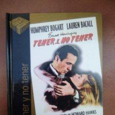 Cine: PELICULA DVD - LIBRO TENER Y NO TENER CON HUMPHREY BOGART Y LAUREN BACALL. Lote 297053988