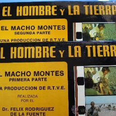 Cine: EL MACHO MONTÉS ,SUPER 8. 1ª Y 2ª PARTE.FELIX RODRIGUEZ DE LA FUENTE.Nº 9 ,10 EL HOMBRE Y LA TIERRA . Lote 26628115