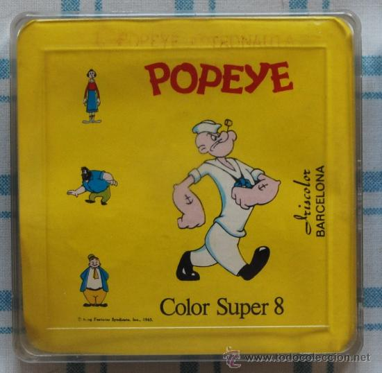 PELICULA DIBUJOS ANIMADOS SUPER 8 POPEYE COLOR IRISCOLOR (Cine - Películas - Super 8 mm)