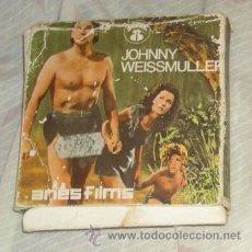 Cine: EL HIJO DE TARZÁN DE JOHNNY WEISSMULLER,SUPER 8,ARIES FILM,CAJA ORIGINAL,AÑOS 60. Lote 56185592