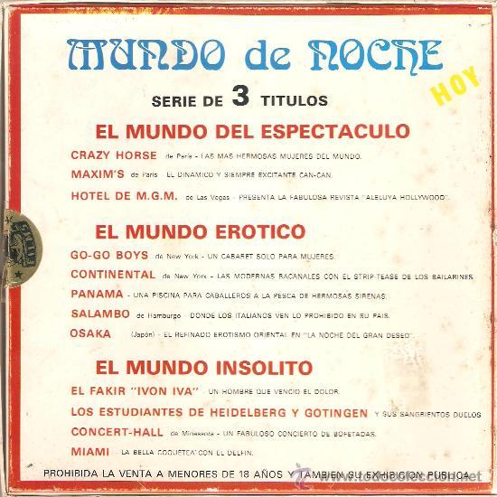 Cine: SUPER 8 - MUNDO DE NOCHE: EL MUNDO INSÓLITO. 120 METROS. COLOR. SONORA. - Foto 2 - 26794706