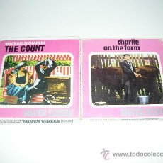 Cine: DOS PELICULAS SUPER 8 CHARLIE CHAPLIN SILVER THE COUNT CHARLIE AND THE FARM SCREEN 8MM. Lote 26814985