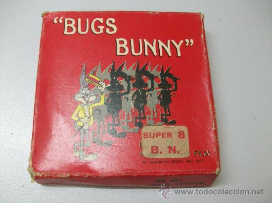 BUGS BUNNY - UN UOMO TENACE - SUPER 8 - B/N - TECHNO FILM - BB 451 (Cine - Películas - Super 8 mm)
