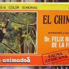 Cine: FÉLIX RODRÍGUEZ DE LA FUENTE - EL CHIMPANCE (DIBUJOS ANIMADOS) - SUPER 8 - BIANCHI (2 PELÍCULAS COLO. Lote 34183377