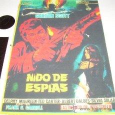 Cine: NIDO DE ESPIAS / IL RAGGIO INFERNALE AÑO: 1967 (ITALIA, ESPAÑA) DIRECTOR: GIANFRANCO BALDANELLO. Lote 37283633