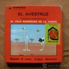 Cine: SUPER 8 | LA AVESTRUZ | FELIX RODRIGUEZ DE LA FUENTE. Lote 37652255