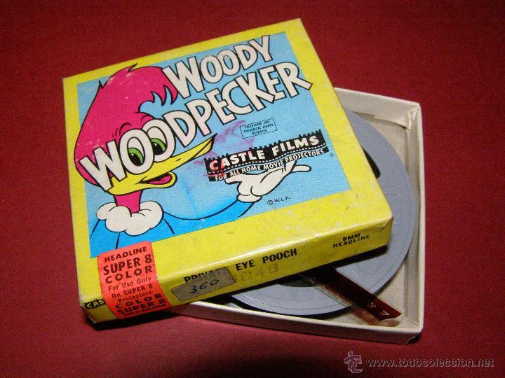 Cine: Película super 8mm. Woody WoodPecker - El pájaro loco - Castle Films - - Foto 2 - 40361727