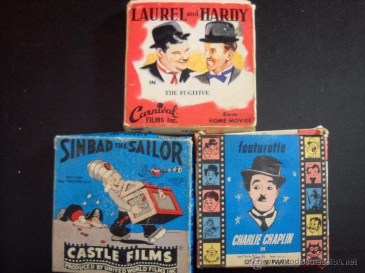 LAUREL Y HARDY,CHARLIE CHAPLIN Y SINBAD (Cine - Películas - Super 8 mm)