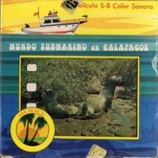 Cine: SUPER 8 ++MUNDO SUBMARINO EN GALÁPAGOS++ BOBINA DE 60METROS (DC). Lote 46382080