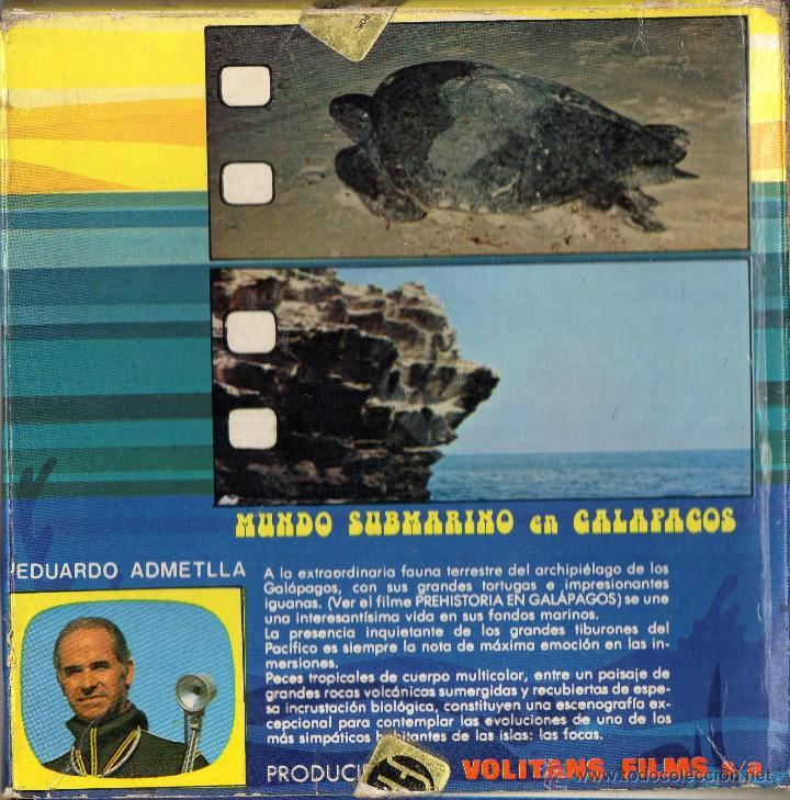 Cine: Super 8 ++Mundo submarino en Galápagos++ Bobina de 60metros (DC) - Foto 2 - 46382080