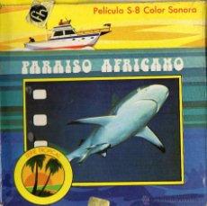 Cine: SUPER 8 ++ PARAISO AFRICANO ++ BOBINA DE 60METROS (DC). Lote 46382117