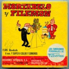 Cine: MORTADELO Y FILEMÓN EN CARIOCO Y SU INVENCIÓN - MARBISCOLOR - ESTUDIOS VARA - 1970 - SUPER 8 SONORO. Lote 48590491