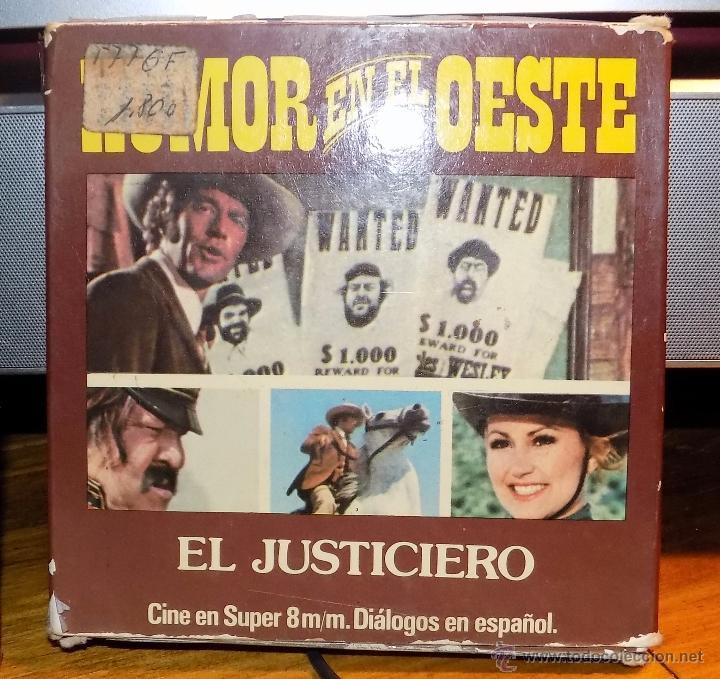 PELICULA , SUPER 8MM, HUMOR EN EL OESTE, EL JUSTICIERO (Cine - Películas - Super 8 mm)