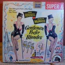 Cine: SUPER 8 SONORO--LOS CABALLEROS LAS PREFIEREN RUBIAS..GENTLEMEN PREFER BLONDES 1953--KEN FILMS. Lote 53713777