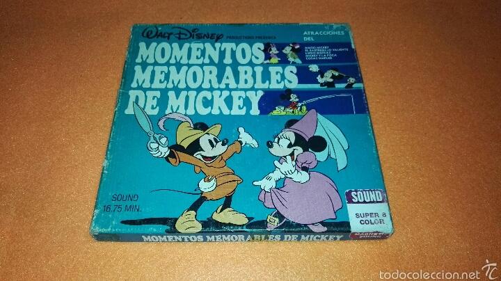 PELICULA MOMENTOS MEMORABLES DE MICKEY SUPER 8 . DISNEY (Cine - Películas - Super 8 mm)