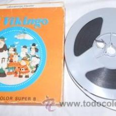 Cine: PELÍCULA FILM COLOR SUPER 8, WICKIE EL VIKINGO, FUGA DEL CASTILLO. Lote 175819975
