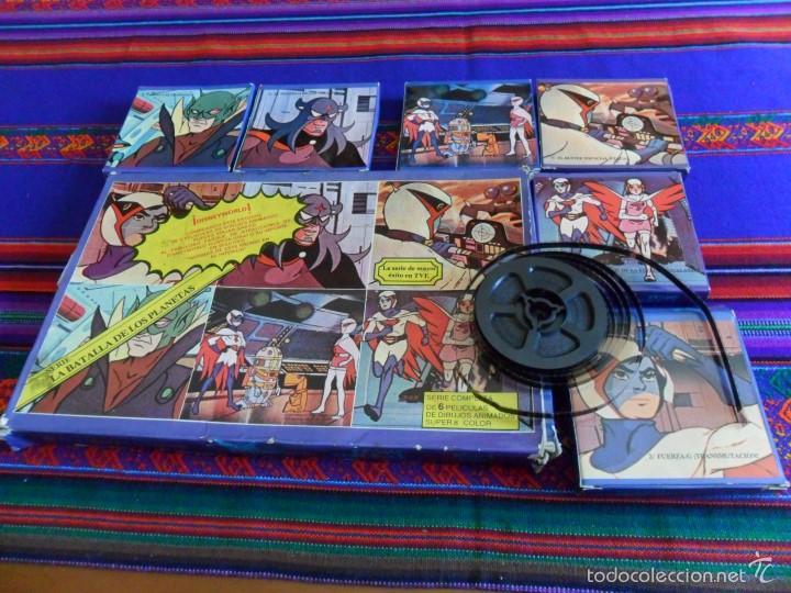 LA BATALLA DE LOS PLANETAS COMADO G 6 PELÍCULAS EN ESTUCHES. REGALO ALBUM DANONE. BUEN ESTADO. RARO. (Cine - Películas - Super 8 mm)