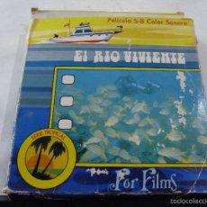 Cine: PELICULA SUPER 8 COLOR SONORA EL RIO VIVIENTE DE EDUARDO ADMETLLA. Lote 60997811