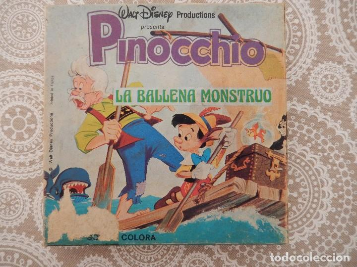 PELICULA SUPER 8 COLOR SONORA CASTELLANO WALT DISNEY-PINOCCHIO-PINOCHO-LA BALLENA MONSTRUO (Cine - Películas - Super 8 mm)