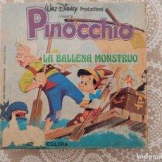 Cine: PELICULA SUPER 8 COLOR SONORA CASTELLANO WALT DISNEY-PINOCCHIO-PINOCHO-LA BALLENA MONSTRUO. Lote 68367049