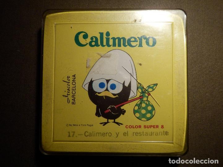 ANTIGUA PELÍCULA SUPER 8 MM. - CALIMERO - 17.- CALIMERO Y EL RESTAURANTE - IRISCOLOR - CON PRECINTO (Cine - Películas - Super 8 mm)