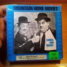 Cine: PELICULA LAUREL AND HARDY T.308 BOYS IN BLUE- MONTAIN FILMS--13 CM DIAMETRO BOBINA-BUEN ESTADO. Lote 76517323