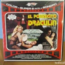 Cine: PELICULA SUPER 8 DE 150 METROS-EROTICA-EL POBRECITO DRACULIN- SONORA EN ESPAÑOL. Lote 78392345