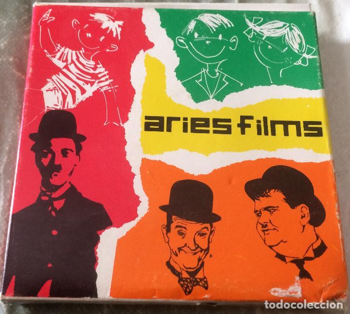 Cine: Laurel y Hardy - Una noche terrorífica. Película Super 8 mm. Aries Films nº 2788. Buen estado. - Foto 3 - 81305432