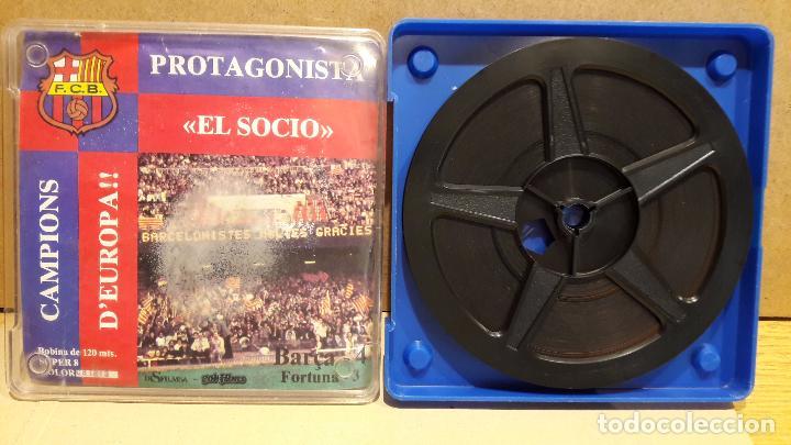 / BARÇA !! FCB. PROTAGONISTA EL SOCIO. CAMPIONS D'EUROPA. BOBINA DE 120 MT / SUPER 8 / COLOR-CATALÁN (Cine - Películas - Super 8 mm)