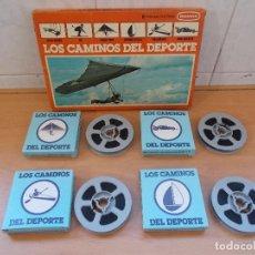 Cine: LOTE DE 4 PELICULAS DE CINE SUPER8 LOS CAMINOS DEL DEPORTE ORIGINALES DE BIANCHI.NUEVAS A ESTRENAR.. Lote 85709132
