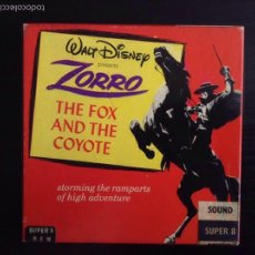 Cine: WALT DISNEY HOME MOVIES : ZORRO - THE FOX AND THE COYOTE - 8MM FILM . SÚPER 8. Lote 87071411