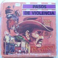 Cine: PELICULA COLOR SUPER 8 B/N . PASOS DE VIOLENCIA. FAR WEST. MI CINE. Lote 94169135