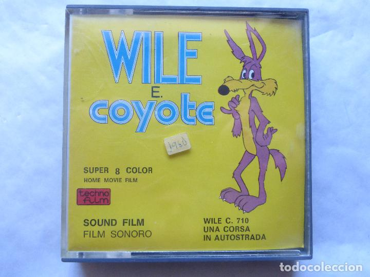 PELICULA COLOR SUPER 8 SONORO . WILE E. COYOTE. TECHNO FILM. NUEVO (Cine - Películas - Super 8 mm)
