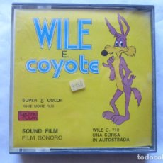Cine: PELICULA COLOR SUPER 8 SONORO . WILE E. COYOTE. TECHNO FILM. NUEVO. Lote 94169725