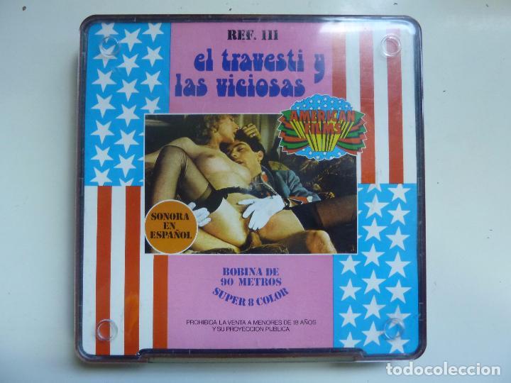 AMERICAN FILMS. BOBINA DE 90 METROS. SUPER 8 COLOR. EL TRAVESTI Y LAS VICIOSAS. (Cine - Películas - Super 8 mm)