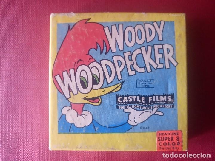 PELICULA WOODY WOODPECKER EL PAJARO LOCO HEADLINE SUPER 8 COLOR (Cine - Películas - Super 8 mm)