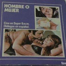 Cine: PELICULA SONORA HOMBRE O MUJER DE CASEN SUPER 8 SONORA 60 METROS. Lote 104464123