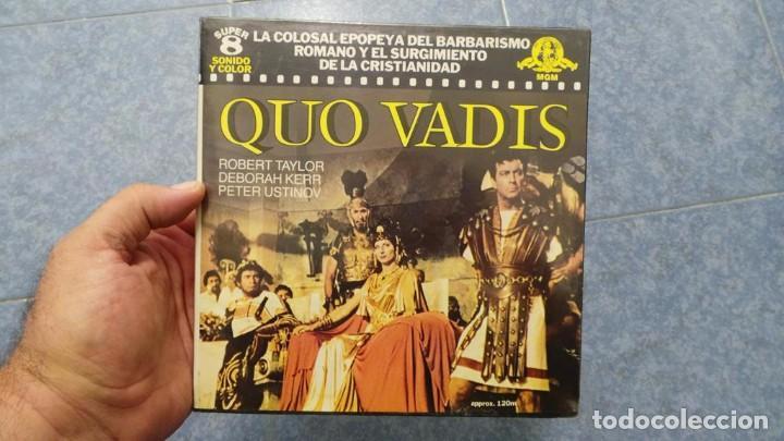 Cine: QUO VADIS-REDUCCIÓN-PELÍCULA SUPER 8 MM-RETRO VINTAGE FILM - Foto 12 - 105054415