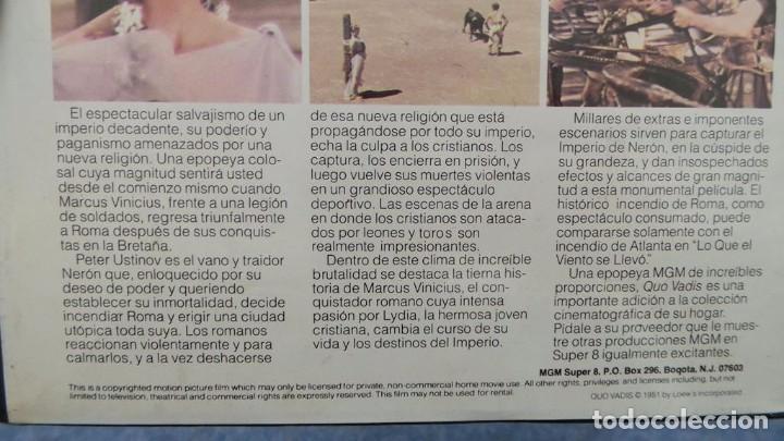 Cine: QUO VADIS-REDUCCIÓN-PELÍCULA SUPER 8 MM-RETRO VINTAGE FILM - Foto 18 - 105054415