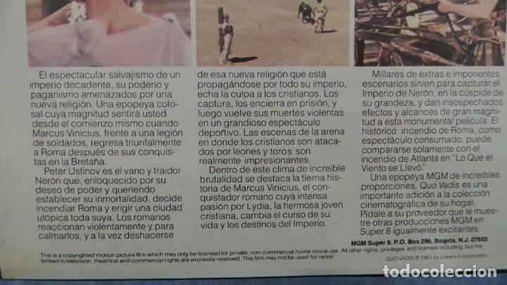 Cine: QUO VADIS-REDUCCIÓN-PELÍCULA SUPER 8 MM-RETRO VINTAGE FILM - Foto 19 - 105054415
