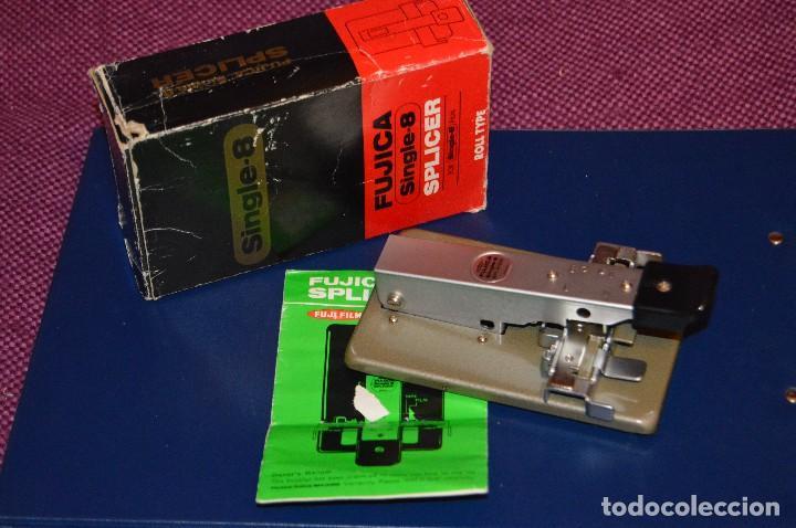 VINTAGE - ANTIGUA EMPALMADORA SPLICER - FUJICA SINGLE 8 SPLICER - PARA PELÍCULA SUPER 8 - HAZ OFERTA (Cine - Películas - Super 8 mm)