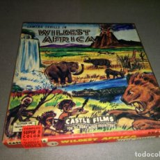 Cine: 818- FILM SUPER 8 MM - AFRICA SALVAJE/WILDEST AFRICA ( COMPLETE SUPER 8 COLOR). Lote 106927487