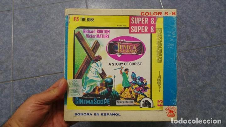 Cine: LA TÚNICA SAGRADA-PELICULA SUPER 8MM RETRO VINTAGE FILM - Foto 53 - 106959227