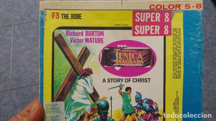 Cine: LA TÚNICA SAGRADA-PELICULA SUPER 8MM RETRO VINTAGE FILM - Foto 56 - 106959227