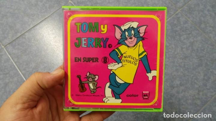 Cine: TOM Y JERRY-UN INVITADO A CENAR PELÍCULA SUPER 8MM RETRO VINTAGE FILM - Foto 54 - 107354931