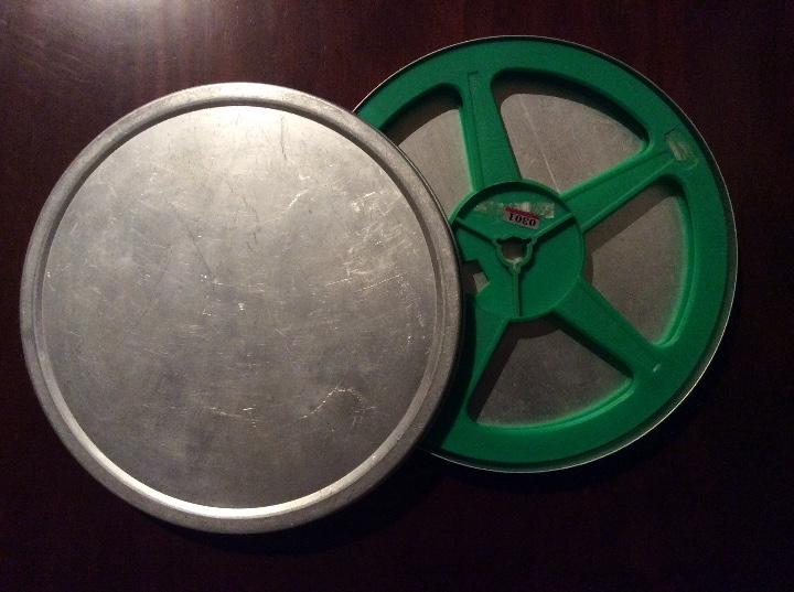 BOBINA Y CAJA METALICA LATA PARA PELICULA SUPER 8 Y 8MM (Cine - Películas - Super 8 mm)
