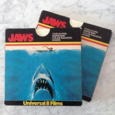 SUPER 8 - JAWS (TIBURON) - STEVEN SPIELBERG - 2 ROLLOS (7010 PT 1 + 7011 PT 2) - DOBLADO AL ESPAÑOL