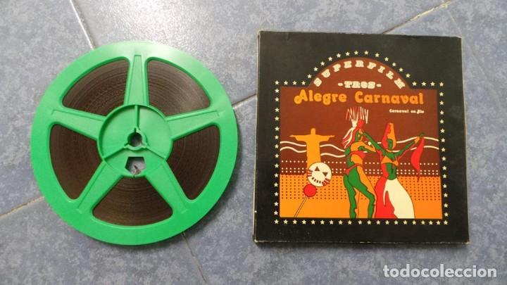 Cine: ALEGRE CARNAVAL-(CARNAVAL EN RÍO) PELÍCULA SUPER 8 MM-RETRO VINTAGE FILM - Foto 62 - 112675615
