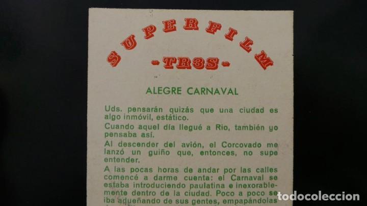 Cine: ALEGRE CARNAVAL-(CARNAVAL EN RÍO) PELÍCULA SUPER 8 MM-RETRO VINTAGE FILM - Foto 70 - 112675615